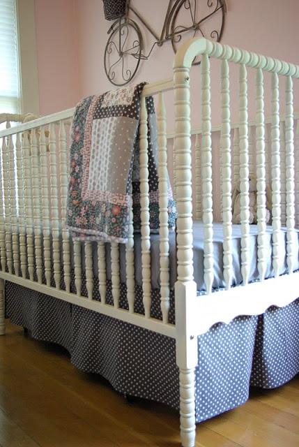 Crib Skirt Pattern Oleander Palm