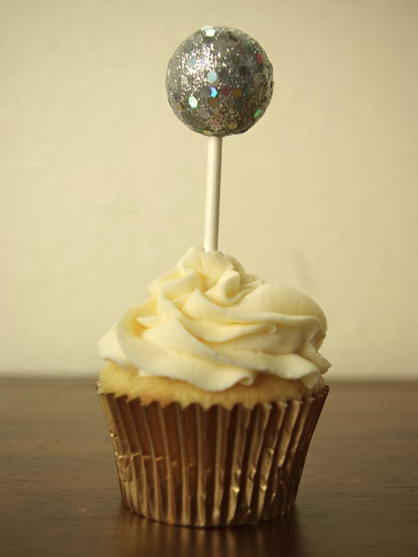 New Year's Eve Ball Drop Cupcake Toppers - Oleander + Palm