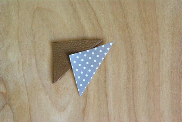 DIY Leather Triangle Pin - Oleander + Palm