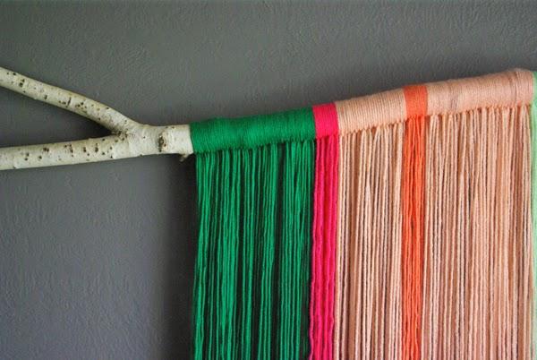 Diy yarn art oleander palm for Diy yarn wall art