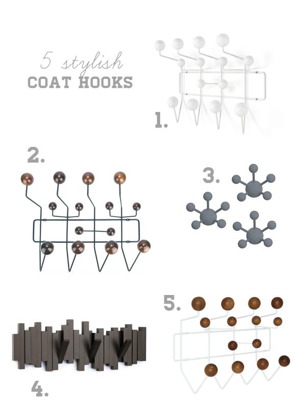 Stylish Coat Hooks 5 stylish coat hooks - oleander + palm