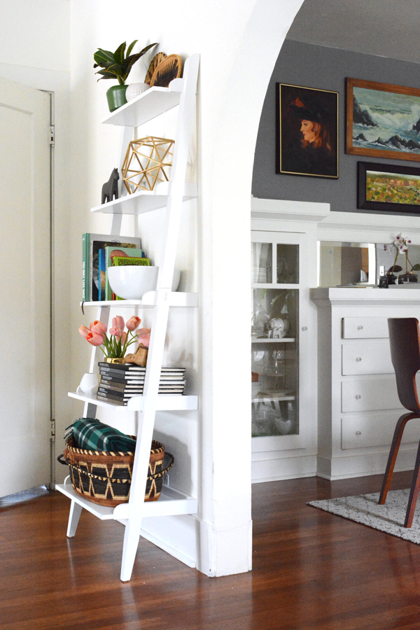 leaning wall shelving