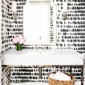 Bold Black and White Walls