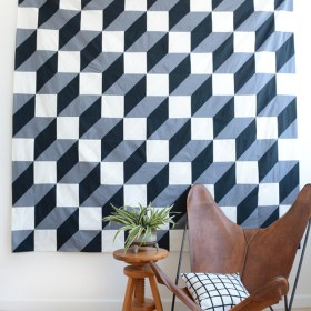 Bold Patterned Modern Quilt