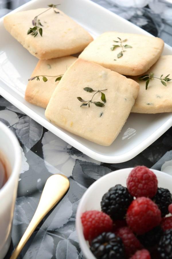 Lemon Thyme Shortbread Recipe