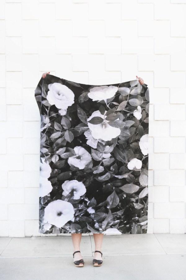 garden rose blanket