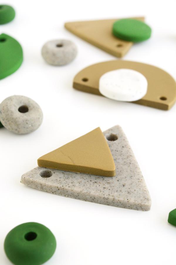 DIY geometric necklace pendants