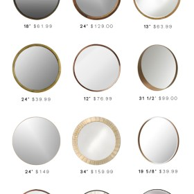 Round Mirrors for Every Room