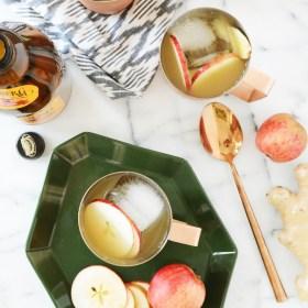 Sparkling Apple Ginger Mocktail