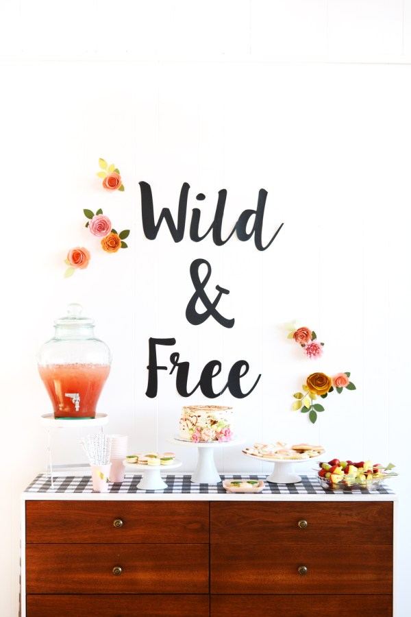 Wild & Free Boho Camping Birthday Party Dessert Table