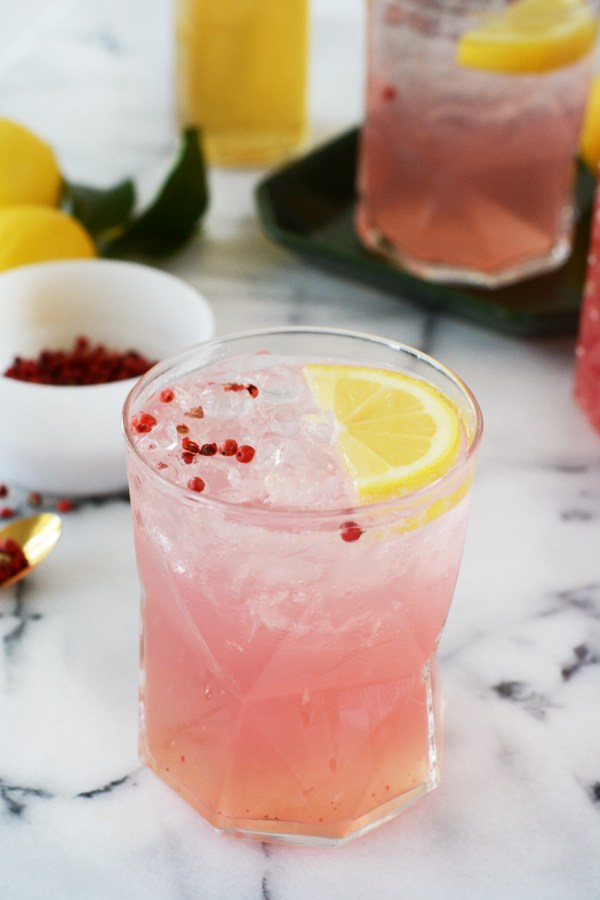 Pink Peppercorn Lemonade Mocktail