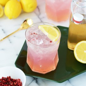 Pink Peppercorn Lemonade Mocktail