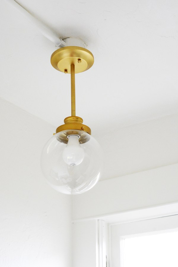 Brass Globe Pendant Light Fixture