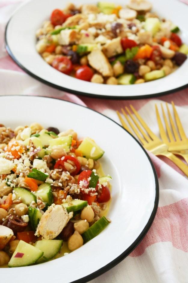 Lemon Chicken Garbanzo Bean Salad
