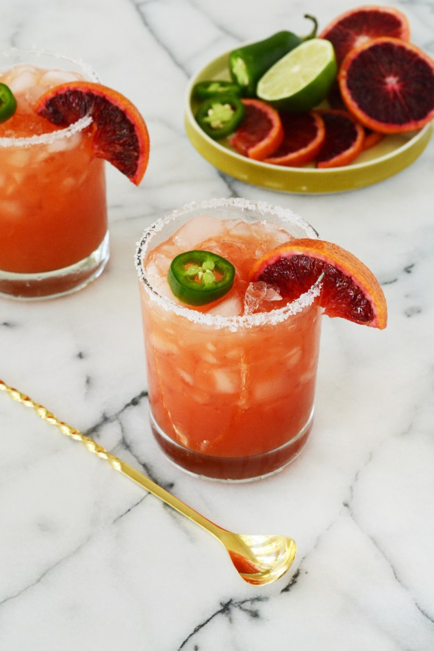 Blood Orange Jalapeno Mock-Margarita