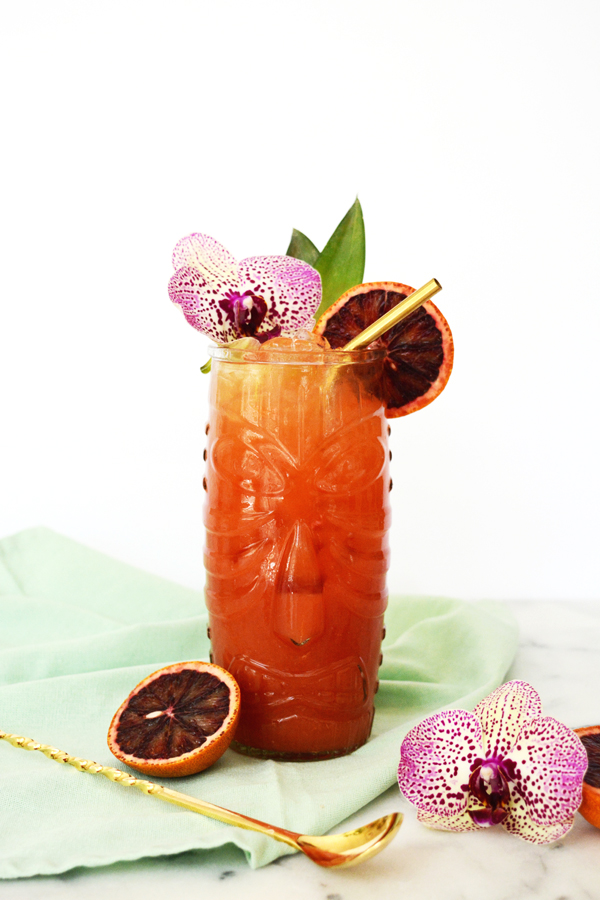 Blood Orange Mai Tai Mocktail