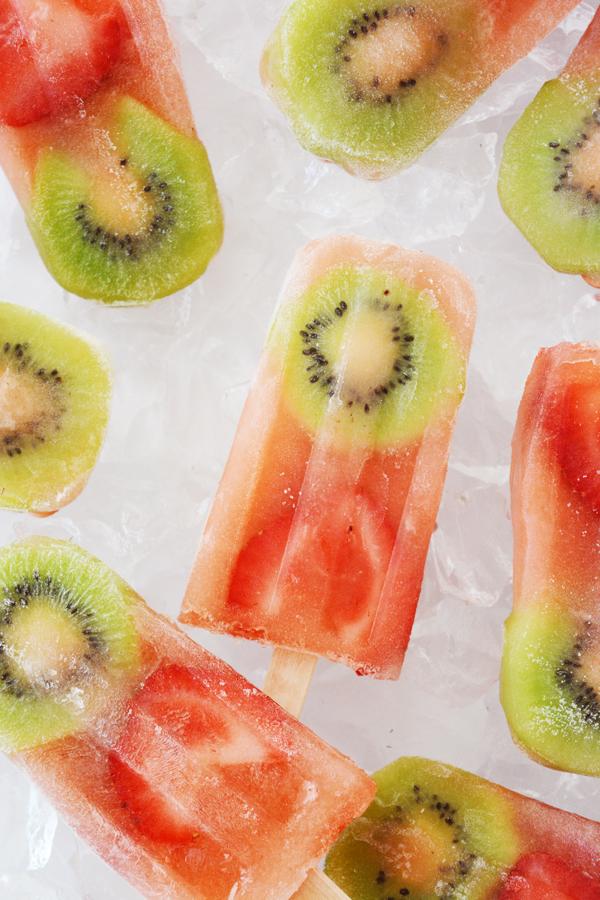 Kiwi Strawberry Lemonade Popsicle