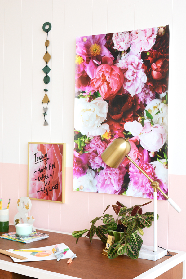 3 Ways to Hang a Poster and Free Peonies Print Download