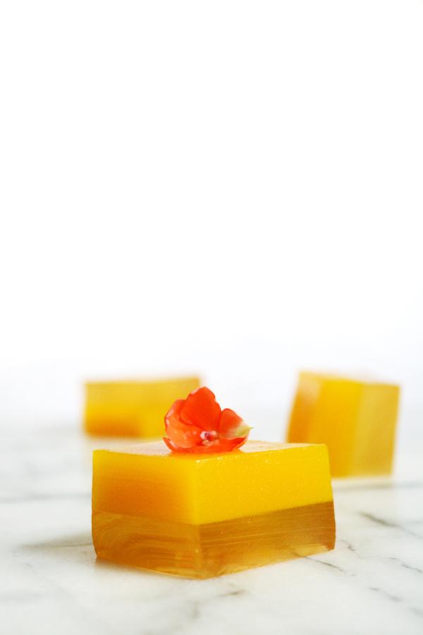 Orange Mango Mock-Mimosa Jello Shots