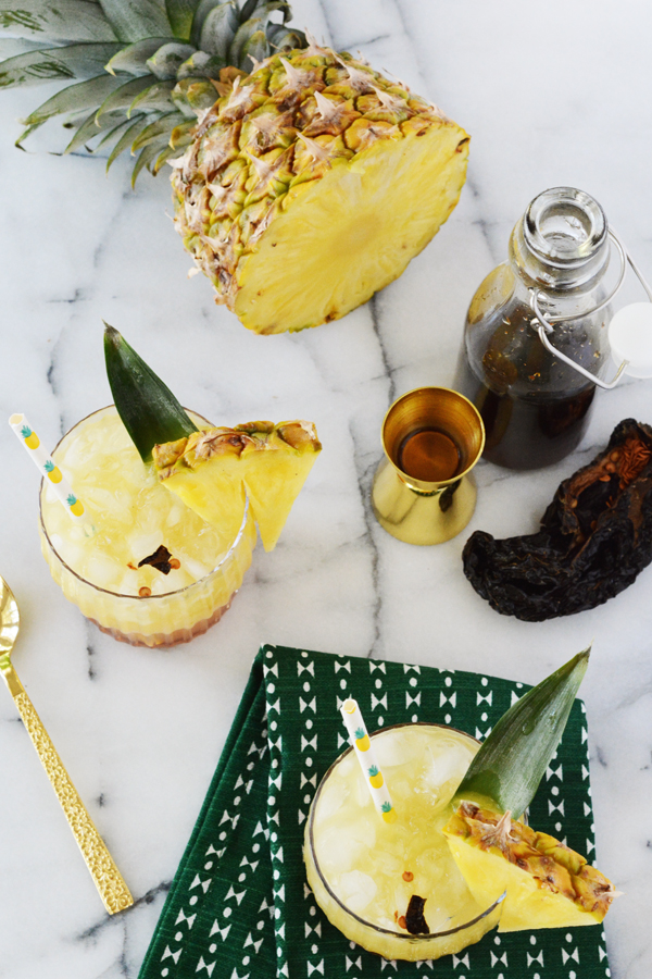 Pineapple Chile Ancho Cooler - a fun mocktail the whole family can enjoy.