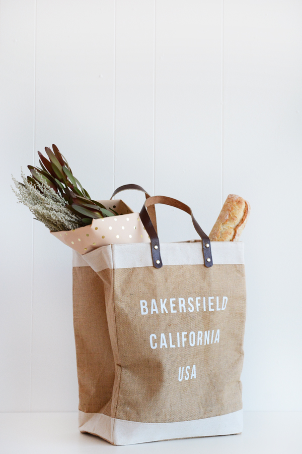 DIY City, State, Country Market Tote Bag