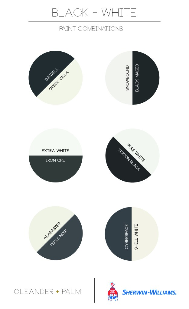Black and White Paint Combinations from Sherwin Williams