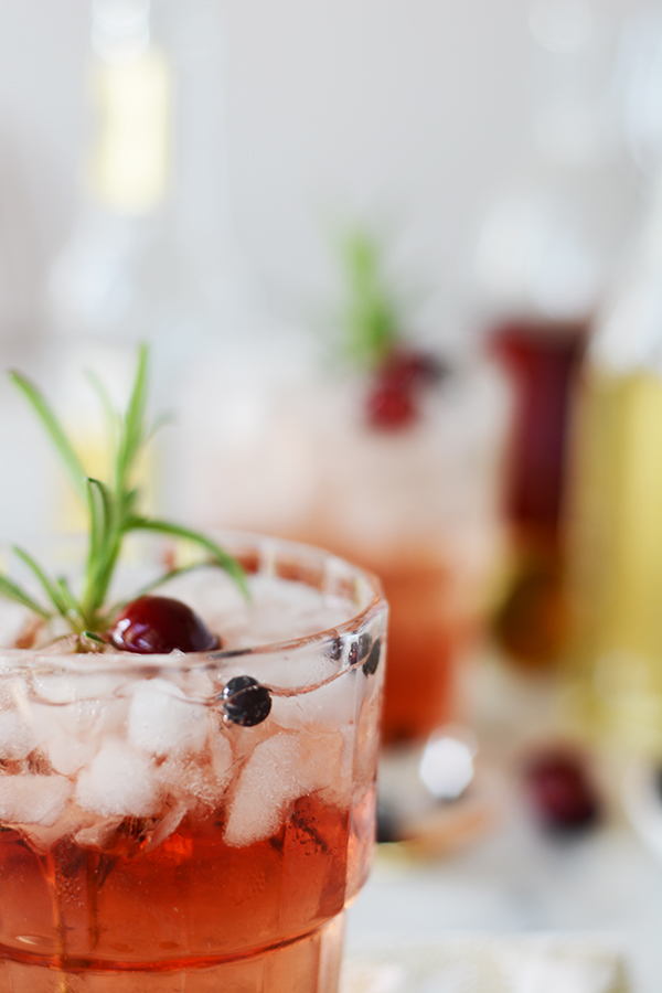 Juniper Berry Cranberry Tonic Mocktail