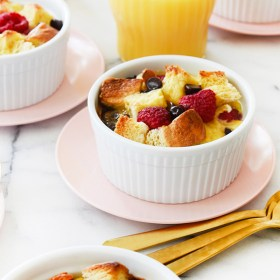 Chocolate Raspberry Baked French Toast