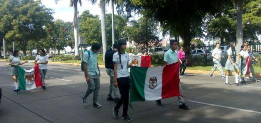 Conmemora Cobaes día de la bandera con desfile