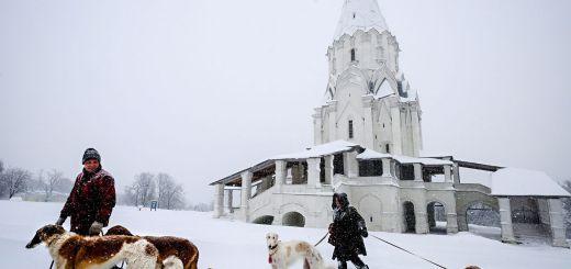 Moscú, con la peor tormenta de nieve jamás registrada
