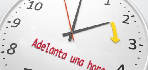 Adelante su reloj una hora a partir del domingo 1 de abril