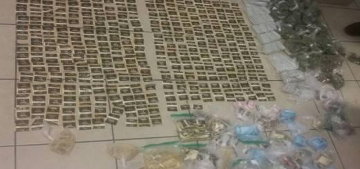 En unidad abandonada, aseguran elementos de la SSPyTM y policía militar diversas armas, casquillos y dosis de drogas