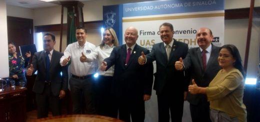 Firma la UAS convenio de colaboración con la CEDH
