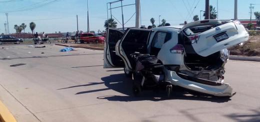 Accidente en la carretera Culiacán-Navolato deja una mujer muerta y dos lesionados.
