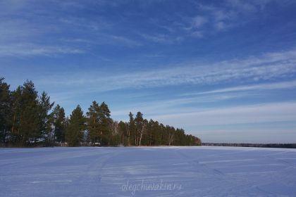 Закат, март, Сибирь