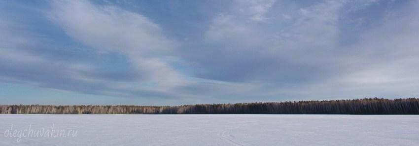 Снег, лес, поле, небо, фото, Олег Чувакин, Новый год, 2016, поздравление