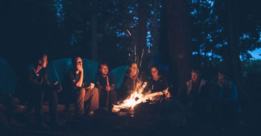 Костёр в лесу, фото, люди, темнота, огонь, Ася Шаркова, рассказ, Без лица