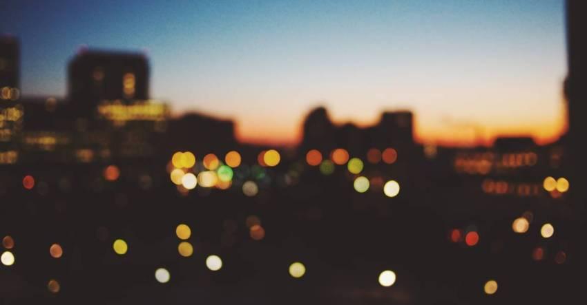 Ночь, город, огни, небо, фото, иллюстрация