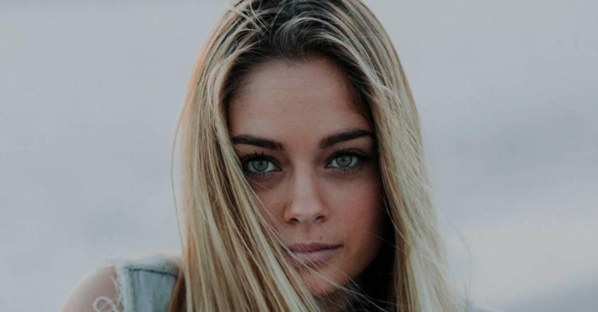 Девушка, лицевой портрет, блондинка, фото