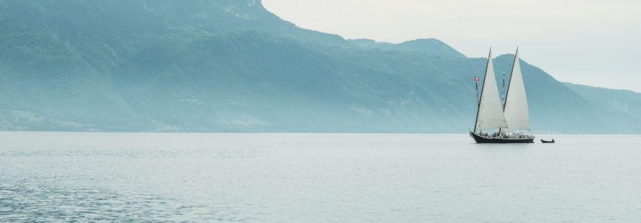 Парус, лодка, море, фото