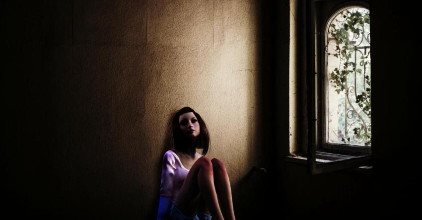 Девушка, окно, любовь, мимолётная