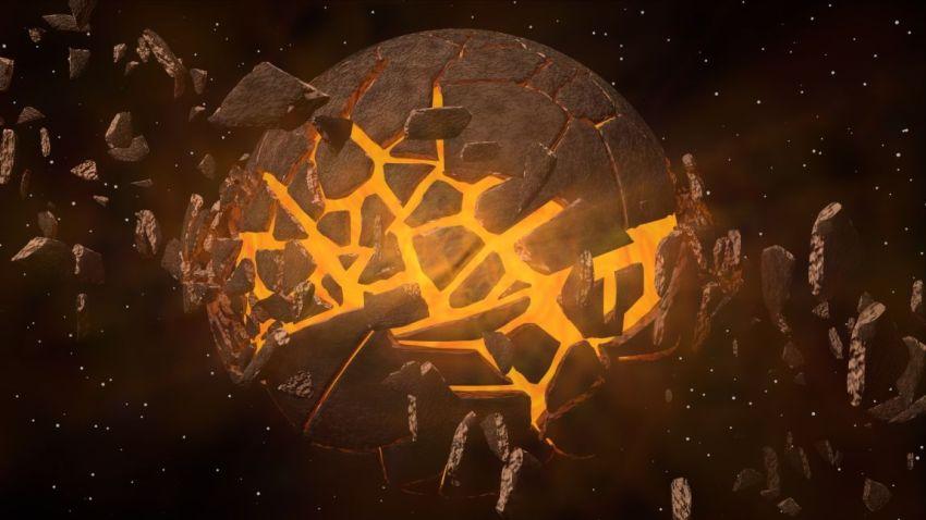 Планета, земной шар, взрыв, радиус поражения, фантастика