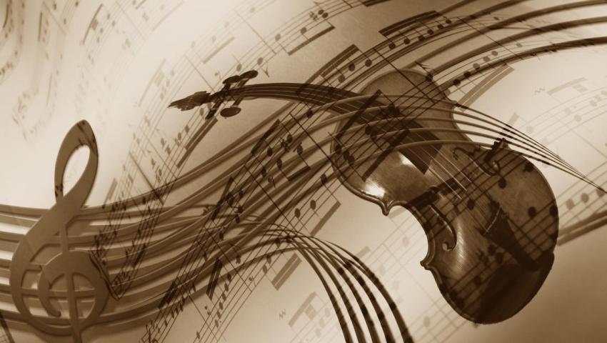 Музыка, ноты, скрипка, скрипичный ключ, нотный стан, интермеццо