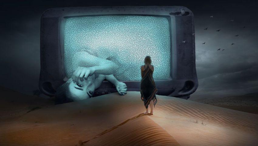 Телевизор, девушка, глаза, роман, прецедент