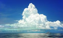 Море, штиль, символ счастья, покой, небо, лодка
