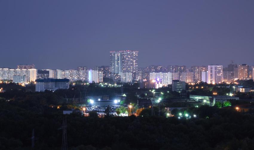 Ночь, город, Москва, фото, свет в окнах, счастье, люди