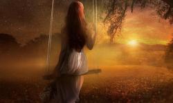 Солнце, женщина, звезда, природа