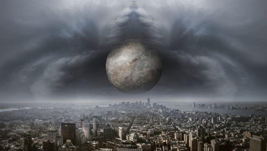 Фантазия, фантастика, мистика, таинственный шар, город, небо, будущее, Россия, мир, планета