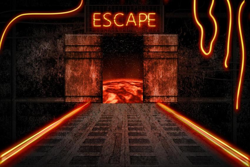 Эскапизм, счастье, escape, космический корабль, огни
