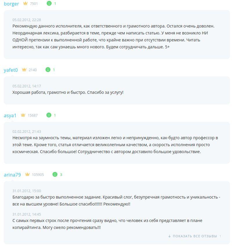 Олег Чувакин, копирайтер, биржа Etxt, контент, тексты, отзывы заказчиков, плюсы